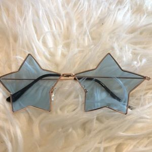 Blue Star Shape Sunglasses